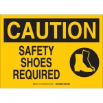 Brady 25895, 10″ x 14″ Polystyrene Caution Safety Shoes Required Sign