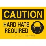 Brady 131926, 10″ x 14″ Fiberglass Caution Hard Hats Required Sign