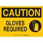 Brady 131934, 10″ x 14″ Fiberglass Caution Gloves Required Sign