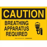 Brady 131948, Caution Breathing Apparatus Required Sign