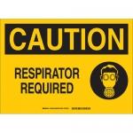Brady 131952, 10″ x 14″ Aluminum Caution Respirator Required Sign