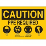 Brady 131984, Ppe Required Hard Hat Glasses… Sign