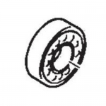 Cat Pumps 13832, Bearing Ball Outer STL for Direct-Drive Plunger Pumps