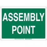 Brady 139623, 14″ x 20″ Fiberglass Assembly Point Sign, Green on White