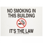 Brady 141969, Smoking In This Building It'S The Law Sign
