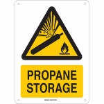 Brady 143628, 14″ x 10″ Aluminum Propane Storage Sign