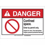 Brady 143672, Confined Space Enter By Permit Only Sign