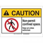 Brady 143703, Caution Non-Permit Confined Space… Sign