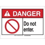 Brady 143739, 10″ x 14″ Polyester Danger Do Not Enter. Sign