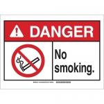Brady 143772, Danger No Smoking Beyond This Point. Sign