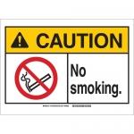 Brady 143765, 14″ x 20″ Fiberglass Caution No Smoking. Sign