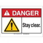 Brady 144055, 10″ x 14″ Aluminum ANSI Sign, Legend: Stay Clear