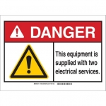 Brady 144065, ANSI Sign, Legend: This Equipment is Supplied…