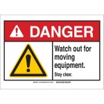 Brady 144103, Sign, Legend: Watch Out for Moving Equipment