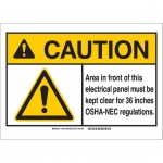 Brady 144338, ANSI Sign, Legend: Area in Front of This…