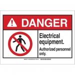 Brady 144368, ANSI Sign, Legend: Electrical Equipment