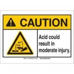 Brady 144794, ANSI Sign, Legend: Acid Could Result…