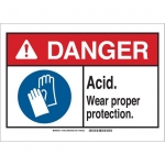 Brady 144802, Sign, Legend: Acid Wear Proper Protection