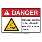 Brady 144811, ANSI Sign, Legend: Anhydrous Ammonia Contact…