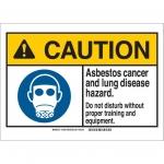 Brady 144835, ANSI Sign, Legend: Asbestos Cancer & Lung…