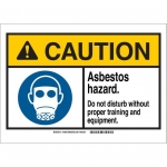 Brady 144841, 10″ x 14″ Plastic ANSI Sign, Legend: Asbestos Hazard