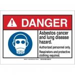 Brady 144851, 10″ x 14″ Plastic ANSI Sign, Legend: Asbestos