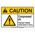 Brady 144921, Plastic ANSI Sign, Legend: Compressed …