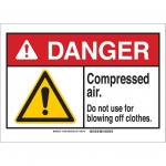 Brady 144925, Plastic ANSI Sign, Legend: Compressed…