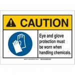 Brady 144988, ANSI Sign, Legend: Eye & Glove Protection…