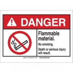Brady 145040, Plastic ANSI Sign, Legend: Flammable …