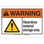 Brady 145102, Plastic ANSI Sign, Legend: Hazardous…