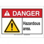 Brady 145112, 10″ x 14″ Plastic ANSI Sign, Legend: Hazardous Waste