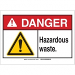 Brady 145113, 10″ x 14″ Aluminum ANSI Sign, Legend: Hazardous Waste