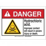 Brady 145145, ANSI Sign, Legend: Hydrochloric Acid…