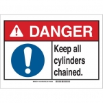 Brady 145155, Danger Keep All Cylinders Chained. Sign