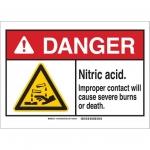 Brady 145186, Sign, Legend: Nitric Acid Improper Contact