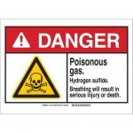 Brady 145216, Plastic ANSI Sign, Legend: Poisonous…