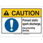 Brady 145224, ANSI Sign, Legend: Prevent Static Spark…