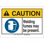 Brady 145290, Sign, Legend: Welding FumES May Be Present