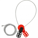 Brady 145551, SAFELEX 15′ Steel Silver Lockout Cable