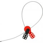 Brady 145554, SAFELEX 3′ Steel Silver Lockout Cable
