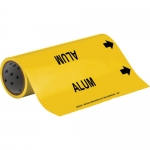 Brady 15501, 12″ x 30′ Vinyl Alum Pipe Marker, Black on Yellow