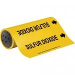 Brady 15569, Sulfur Dioxide Pipe Marker, Black on Yellow