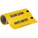 Brady 15581, 12″ x 30′ Vinyl White Water Pipe Marker, Black on Yellow