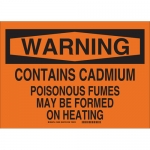 Brady 16028, Warning Contains Cadmium Poisonous… Sign