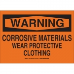 Brady 16032, Corrosive Materials Wear Protective… Sign
