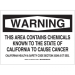 Brady 18178, This Area Contains Chemicals Known… Sign