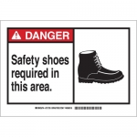 Brady 62754, Safety Shoes Required In This Area. Sign