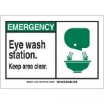 Brady 122753, Emergency Eye Wash Station… Sign