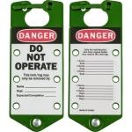 Brady 22075-G, 65963 7.5″ x 3″ Green Aluminum Labeled Lockout Hasps